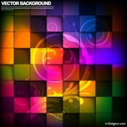 Gorgeous box background 04   vector material
