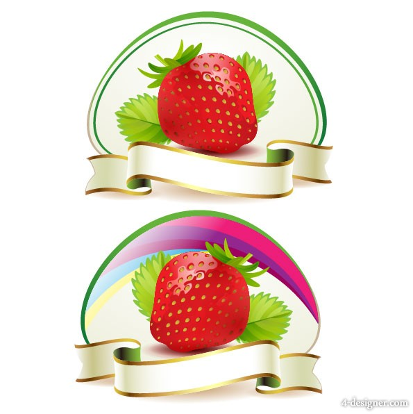 Strawberry theme background 02   vector material