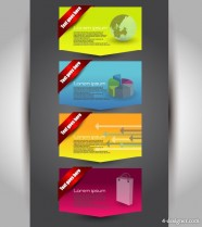 The fashion pages banner01 Vector