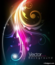 The stylish tread dynamic background   vector material