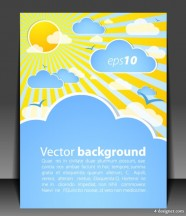 Vector weather effects card 01   vector material