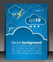 Vector weather effects card 05   vector material