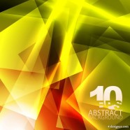 Yellow dynamic technology background 03   vector material