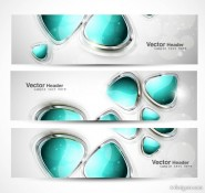 Abstract modern graphics banner01   Vector