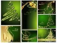 ChristmasBackground dream Christmas background vector material Three