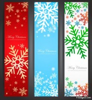 Exquisite Christmas vertical banner   Vector