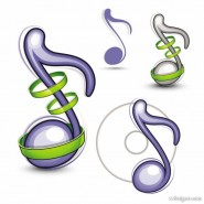 Music icon vector material   Vector