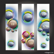 Trend bookmark card 05   vector material