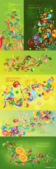Trend of colorful vector case series   Green 6P