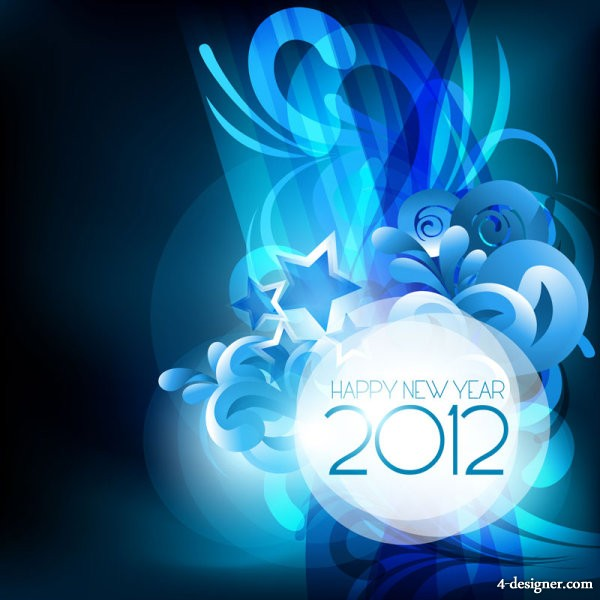 2012 starry background 04   vector material