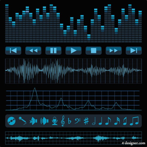 Audio band material 02   vector material