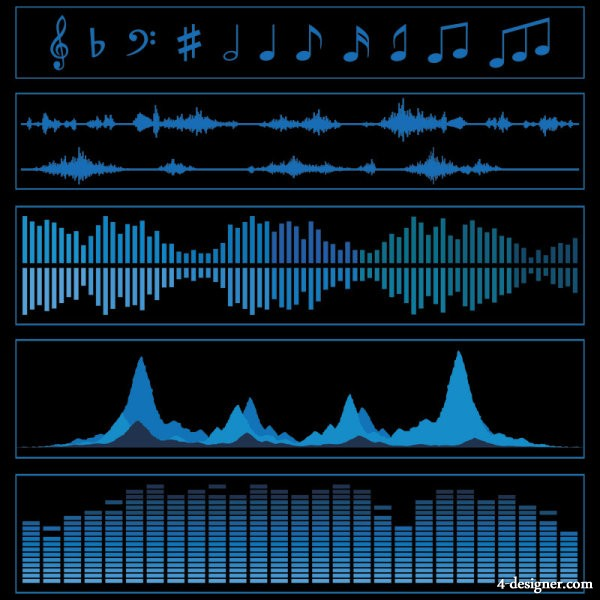 Audio band material vector material 01   Vector