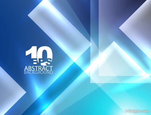 Blue dynamic technology background vector material 05   Vector