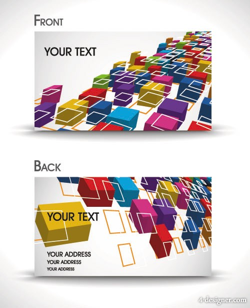 Dynamic gorgeous card background 04   vector material