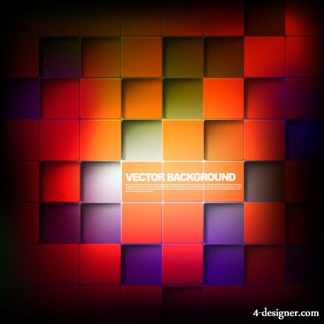 Gorgeous box background vector material 01   vector material