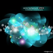 Gorgeous bright starlight effects 07   vector material