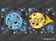 Music Park point vector material