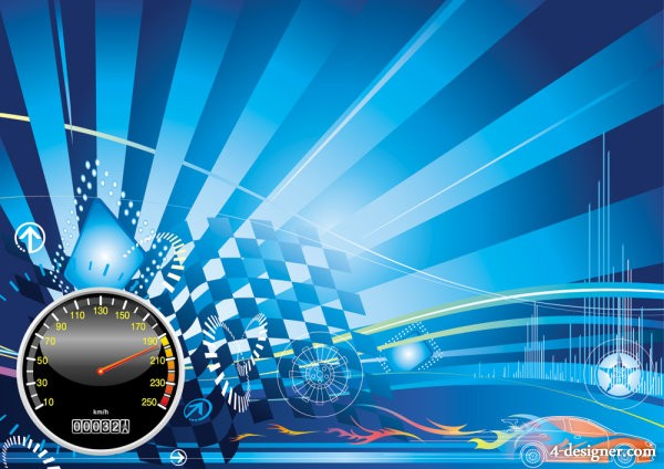 Racing theme background pattern 01   vector material