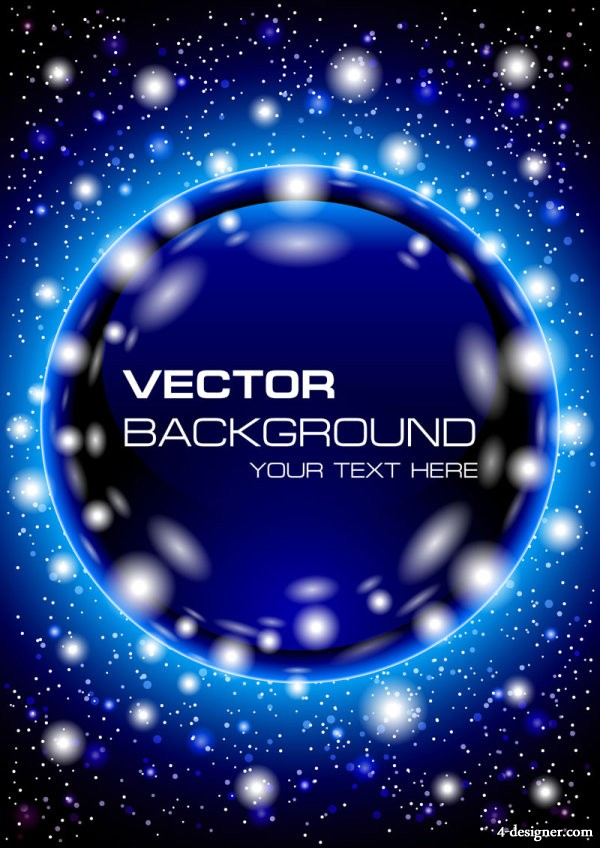 Starry background 04   vector material