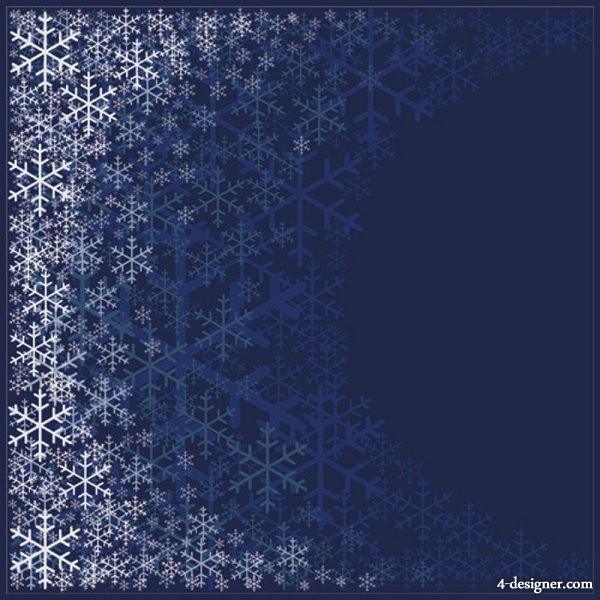 The beautifully snowflake pattern background 01   vector material