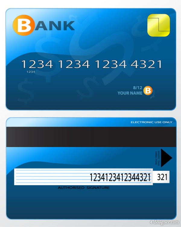 The exquisite bank card material 04   vector material