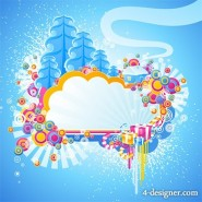 The trend design style combination of elements vector