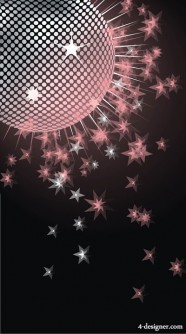 Dream Disco crystal ball vector material