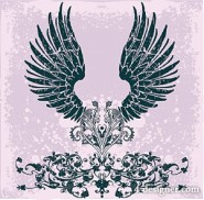 Trend patterns with wings element vector material