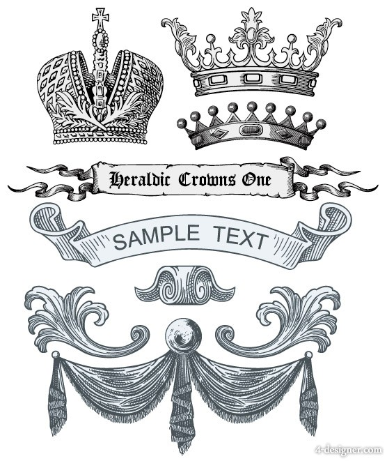 European royal element vector material