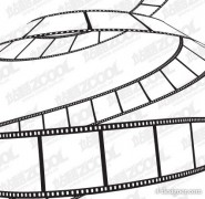 The Fluttering film vector material