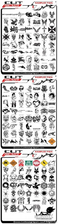 The classic CutReadyClipart trend Totem album Vector
