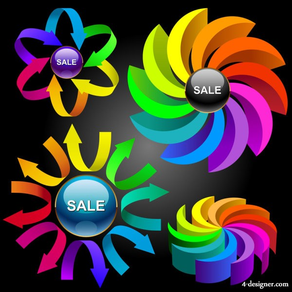 Colorful charts vector material 04   vector material
