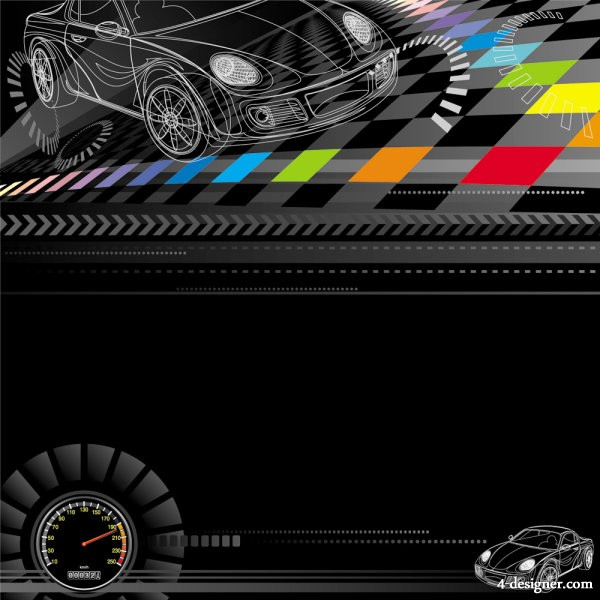 Racing theme background pattern 03   vector material