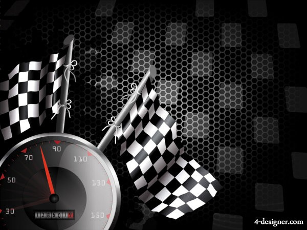 Racing theme background pattern 04   vector material