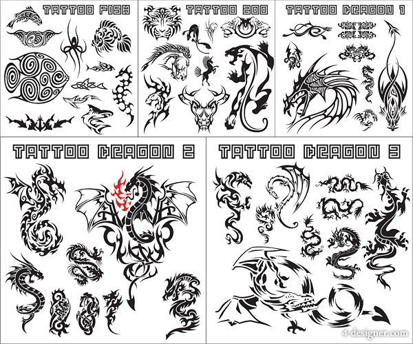 Several animal totems Vector
