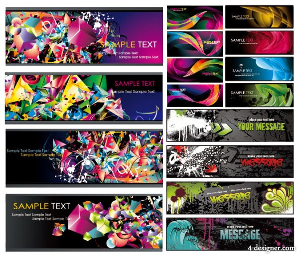 Of several beautiful trend backgrounds vector material