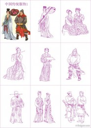 Chinese traditional clothing vector material  1