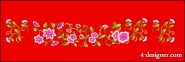 Classical Chinese auspicious flowers vector material
