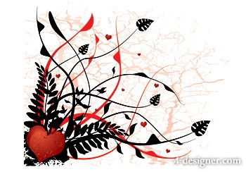 Heart shaped plant vector material