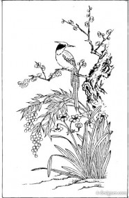 Vector classic Chinese painting vector material  3