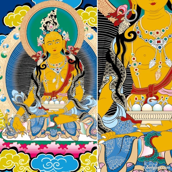 Thangka Ai the financial resources Tienmu Vector toll stations not to transfer financial resources Tienmu; Thangka; Tibetan; Buddhism; Buddha; Dunhuang; religion; Hironori; Nyingma sect; Vector