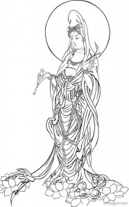 The merciful Bodhisattva vector tracing