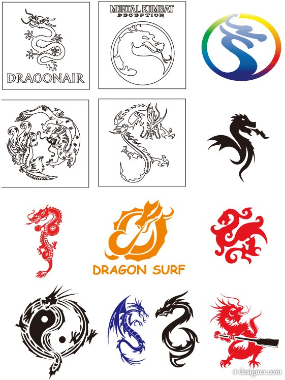 Dragon Collection Vector
