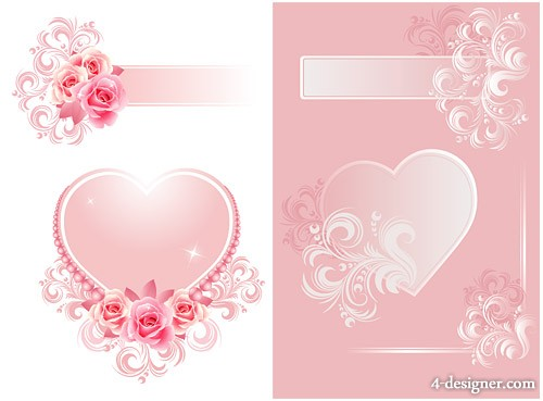 Both dream of a heart shaped pattern vector material