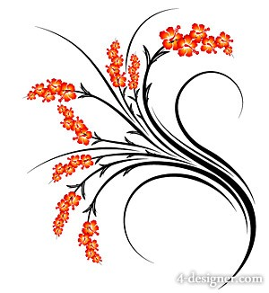 Fashion flowers vector material