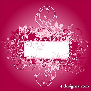 Fashion pattern banner vector material
