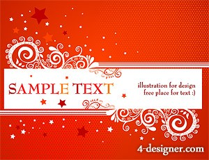 Fashion pattern decorative pattern vector material  2