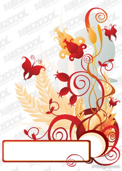 The special pattern butterfly vector material