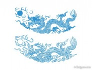 dragon pattern vector material
