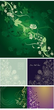 gorgeous, elegant, mysterious patterns vector material